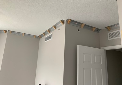 CROWN MOLDING MADE EASY... Confessions of a DIY Weekend Warrior by Dr. Athas N. Kometas